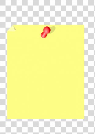 Paper Post-it Note Yellow Font Pattern - Sticky Note PNG