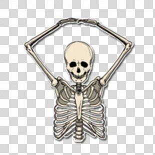 Skeleton Sticker Telegram Skull Bone - Skeleton PNG