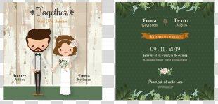 Wedding Invitation Cartoon Bridegroom - Cartoon Wedding Invitation Design PNG