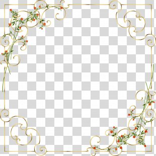 Picture Frames Flower Gold Clip Art - Delicate Frame Cliparts PNG