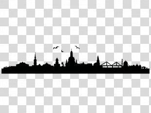 Skyline Dresden Wall Decal Bavaria City - Skyline Silhouette Illustration PNG