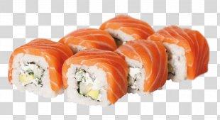 California Roll Sushi Smoked Salmon Japanese Cuisine Makizushi - Sushi PNG