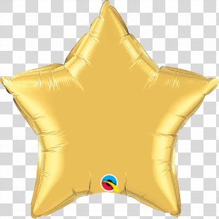 Mylar Balloon Gold Star Color - Real Foil PNG