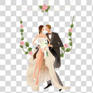 Wedding Invitation Clip Art - Vector Western-style Wedding Men And Women PNG