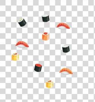 Sushi Japanese Cuisine Food - Cartoon Sushi PNG