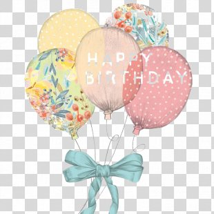 Birthday Cake Wedding Invitation Happy Birthday To You Greeting Card - Balloon Art PNG