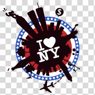 New York City I Love New York Big Apple T-shirt - New York PNG