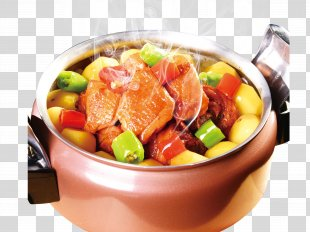 Navarin Asian Cuisine Food Poster Publicity - Colorful Explosion Blasting Pot PNG