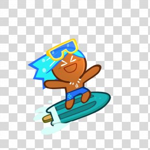 Cookie Run Surfing Clip Art - Cookie PNG