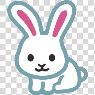 Easter Bunny Emoji Dutch Rabbit Sticker - Bunny Ears PNG