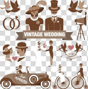 Wedding Invitation Clip Art - Wedding Element Vector PNG