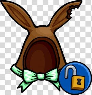 Club Penguin Island Easter Bunny Rabbit - Bunny Ears PNG