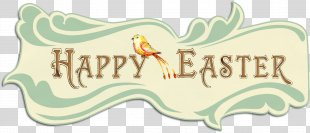 Easter Bunny Paper Greeting - Happy Easter PNG