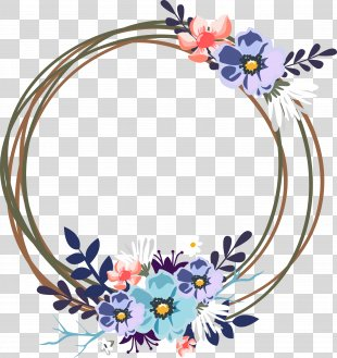 Wedding Invitation Clip Art - Vector Wedding Decorative Garland PNG
