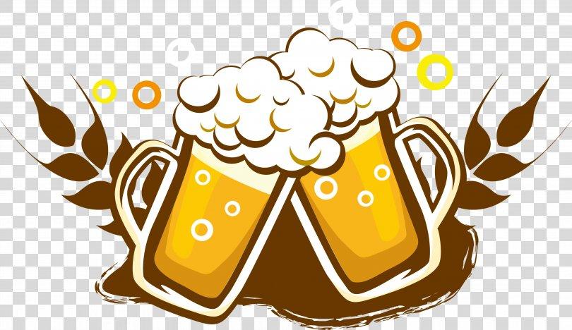 Draught Beer Wine Drink Bottle, Beer Logo Logo Design PNG