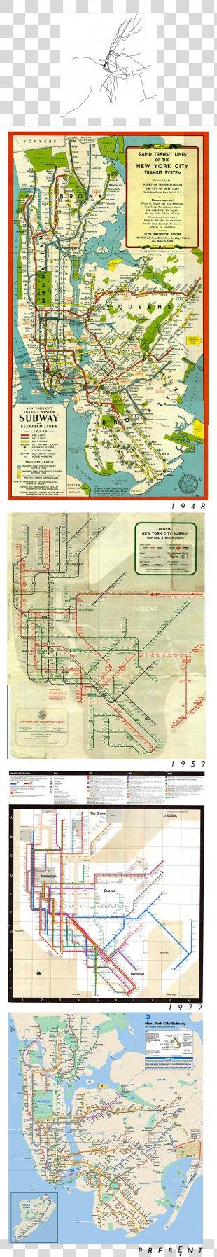 New York City Subway Paper Printing New York City Transit Authority - New York Subway PNG