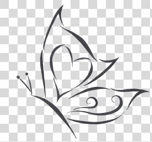 Butterfly Tattoo Drawing - Butterfly Tattoo Designs Transparent Images PNG