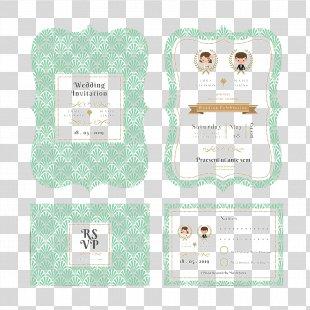 Wedding Invitation Paper - Exquisite Cartoon Wedding Invitation Design PNG
