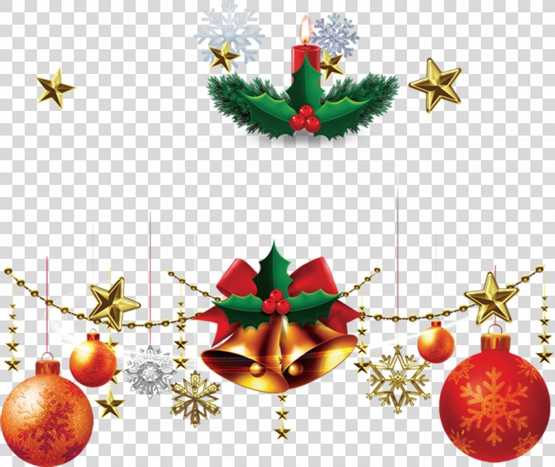 Christmas Decoration, Bell Hanging On Colorful Balloons Single Candle Pattern PNG
