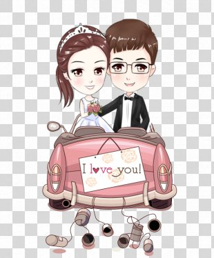 Marriage Wedding Bride Clip Art - Cartoon Couple PNG