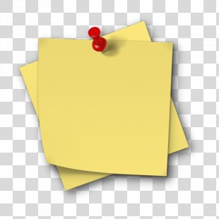Post-it Note Paper Clip Art Sticker - Yellow Post It PNG