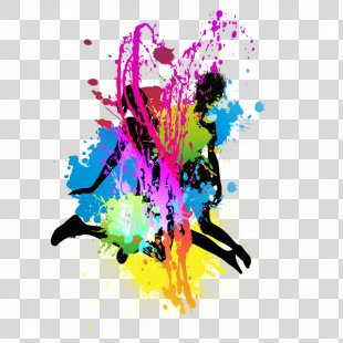 Splash Silhouette Color - Silhouette Splash PNG
