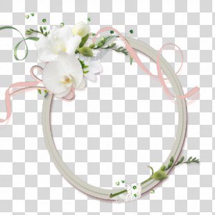 Picture Frame Digital Photo Frame Photography - White Flower Decoration Oval White Frame PNG