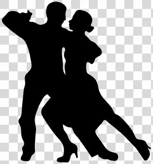 Dance Silhouette Drawing Clip Art - Dancing Couple Silhouette Clip Art Image PNG