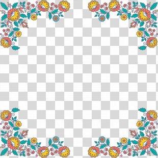 Flower Floral Design Clip Art - Creative Floral Border PNG