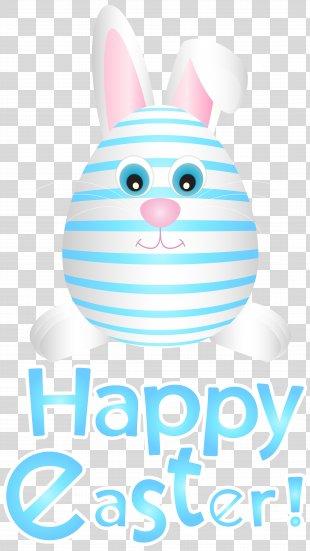 Easter Bunny Easter Egg Paper Clip Art - Easter Bunny Egg Blue Transparent Clip Art PNG