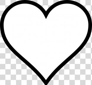 Heart Black And White Valentines Day Clip Art - White Heart Cliparts PNG