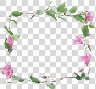 Conte Tea Picture Frames Flower Floral Design - Simple Flower Frame PNG