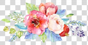 Wedding Invitation Flower Watercolor Painting Floral Design Clip Art - Watercolor Cake PNG