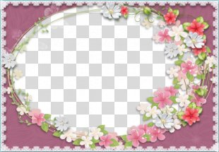 Picture Frames Flower - Purple Flowers Flowers Background Frame PNG