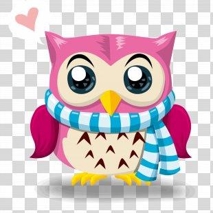 Owl Drawing Clip Art - Owl Vector Material Cartoon Festival PNG