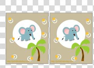 Wedding Invitation Baby Shower Party Safari Clip Art - Baby Elephant PNG
