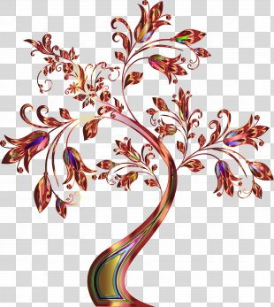 Clip Art Fall Tree Vector Graphics Openclipart - Pusheen Vector PNG
