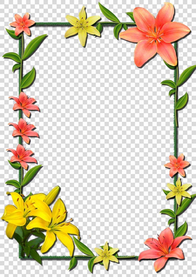 Borders And Frames Picture Frames Flower Clip Art, Flower Frame PNG, Free Download