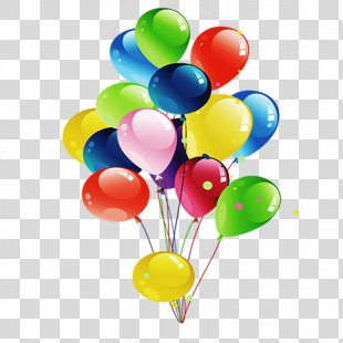 Balloon Birthday Gift Party Clip Art - Birthday Balloons PNG