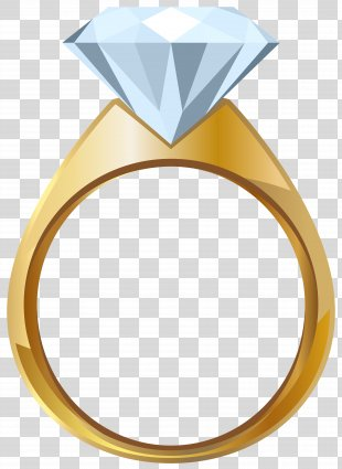 Wedding Ring Gold Engagement Ring Clip Art - Gold Engagement Ring Transparent Clip Art Image PNG