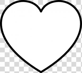 Black And White Heart Area Clip Art - White Heart Cliparts PNG
