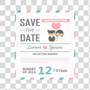 Wedding Invitation Save The Date Convite Party - Birthday Invitation Card PNG