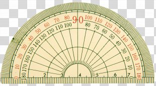 Ruler Straightedge Measuring Instrument Semicircle Compass - Compass PNG