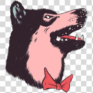 Siberian Husky Drawing Cartoon Illustration - Cartoon Husky PNG