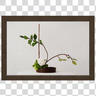 Twig Ikebana Floral Design Plant Stem Picture Frames - Design PNG