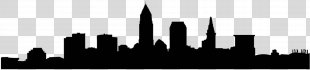 Cleveland Skyline Silhouette Photography - Skyline PNG