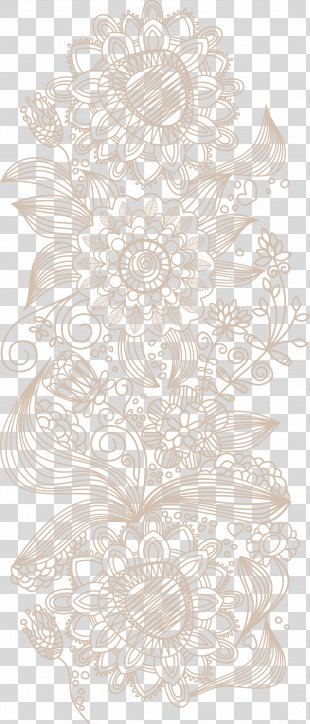 Euclidean Vector Wallpaper - Flower Pattern Vector PNG