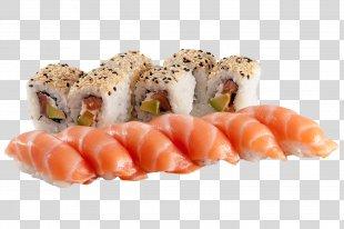 Sashimi Sushi Smoked Salmon Japanese Cuisine California Roll - Sushi Chopsticks PNG