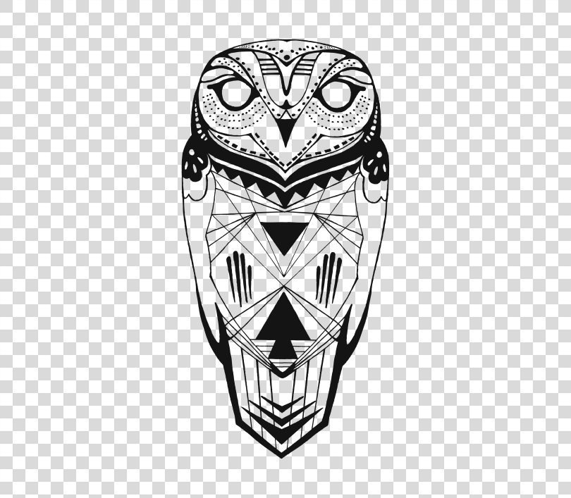 Tattoo Owl Drawing PNG, Free Download