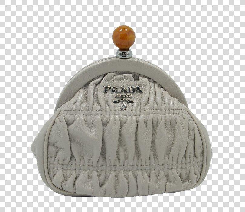 Prada Wallet Handbag Coin Purse, Ms. Prada Purse Gray PNG